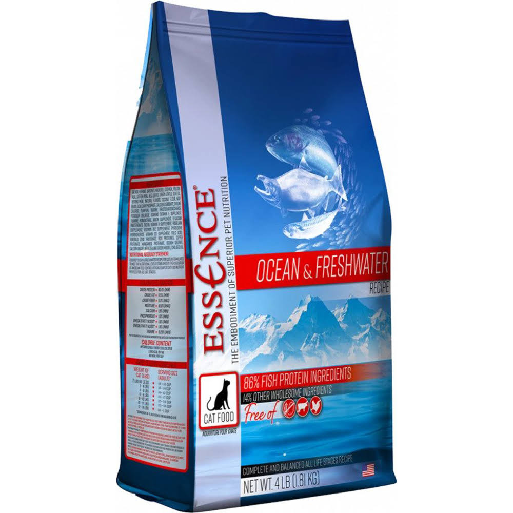 Essence Grain Ocean & Freshwater Recipe Dry Cat Food - 4-lb
