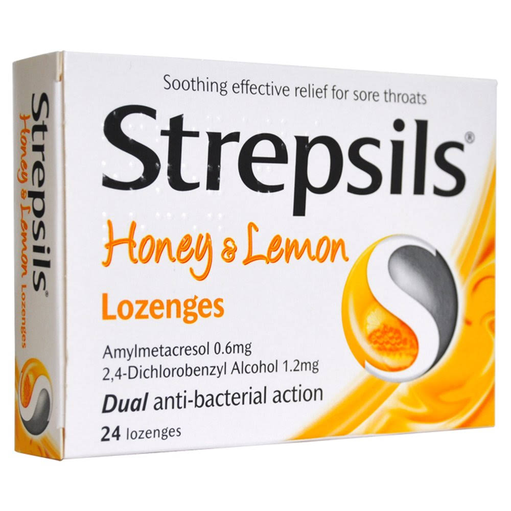 Strepsils Lozenges - Honey & Lemon, x24