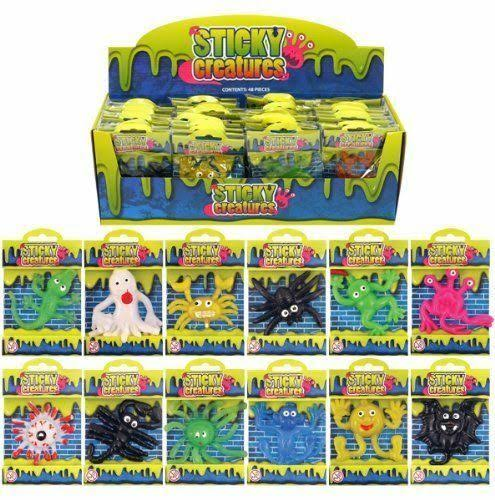 Sticky Creatures Party Bag Filler - 48 Pieces