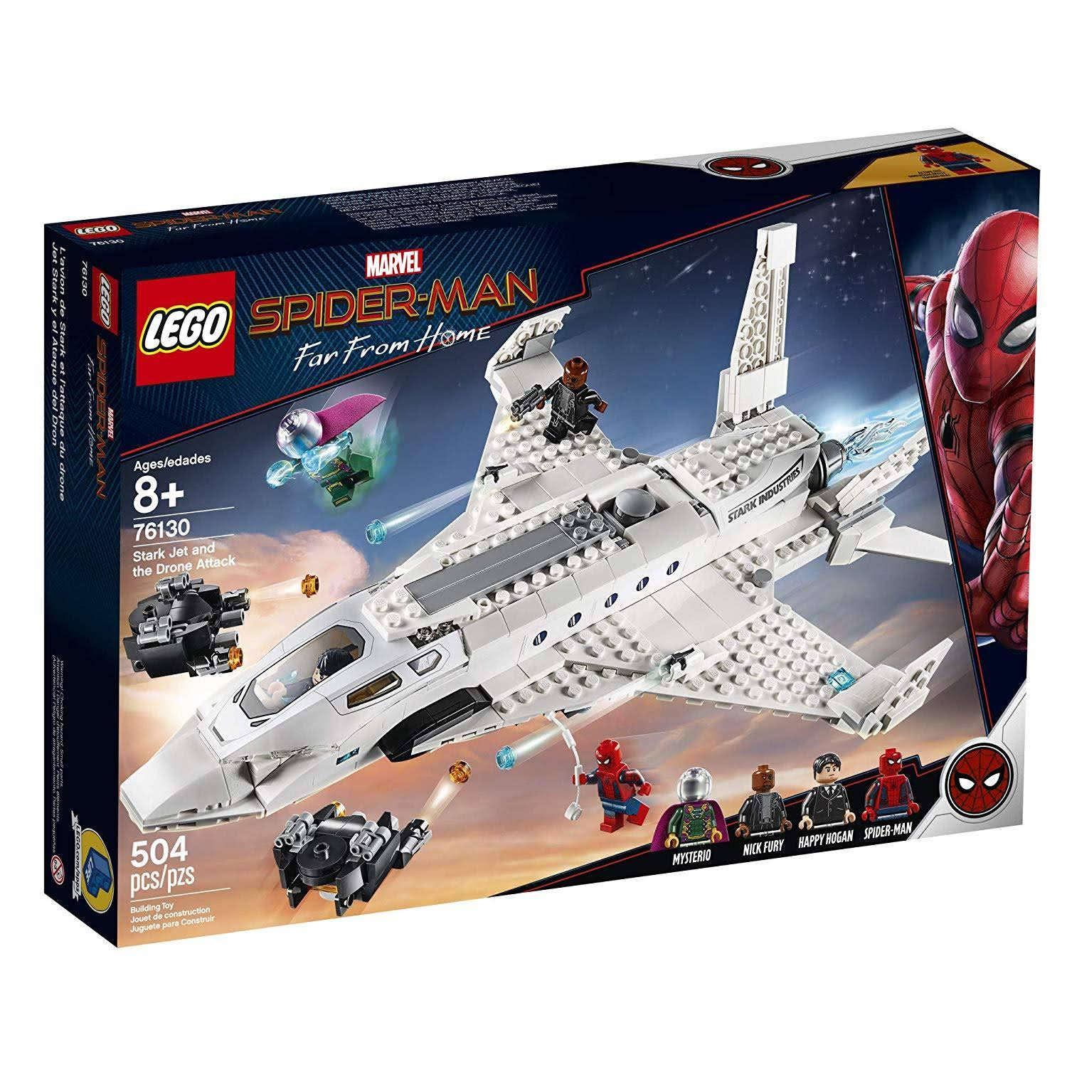 Lego Marvel Spider-Man Stark Jet and The Drone Attack 76130