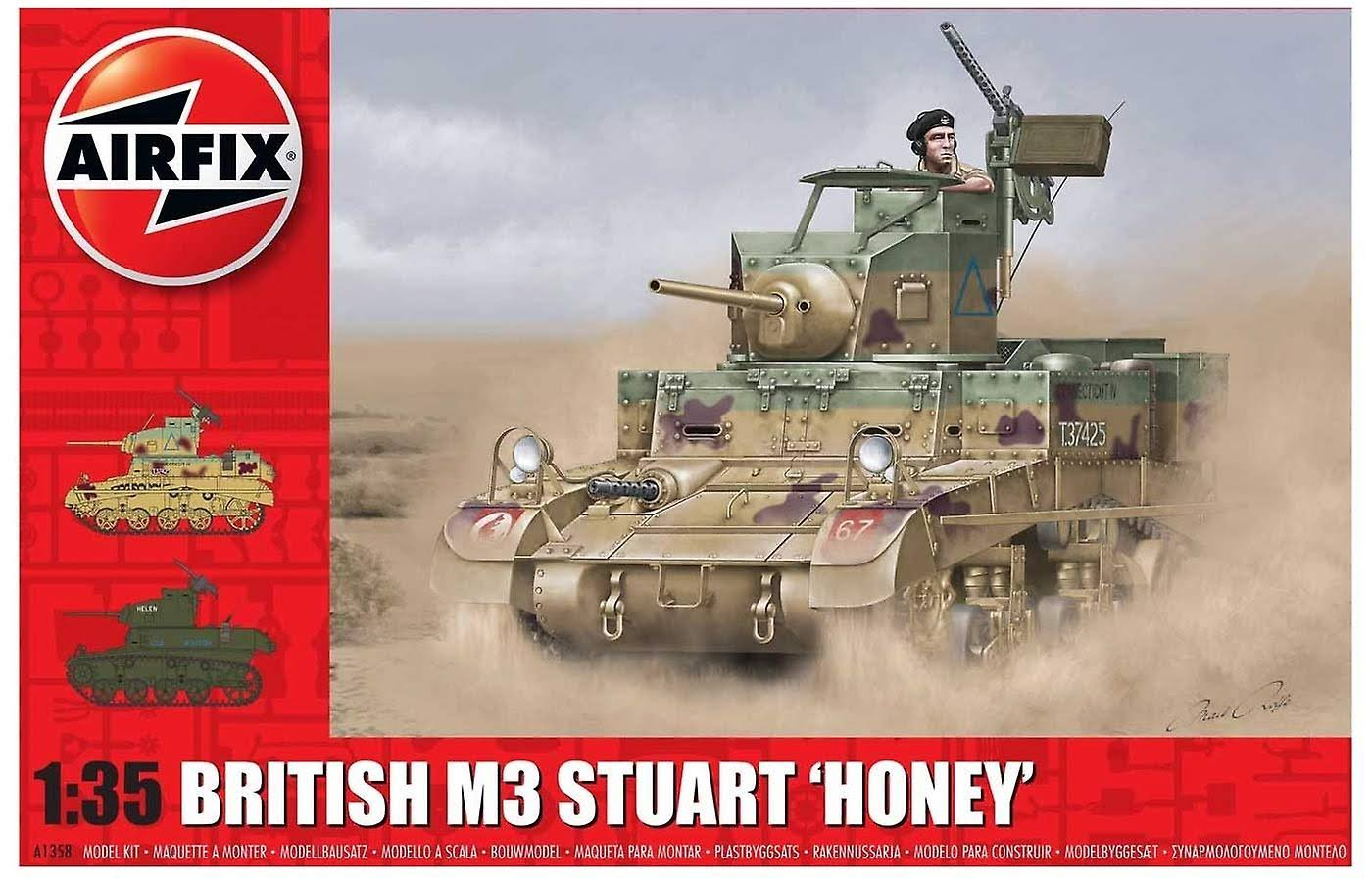 Airfix A1358 M3 Stuart Honey (British Version) 1:35 Tank Model Kit