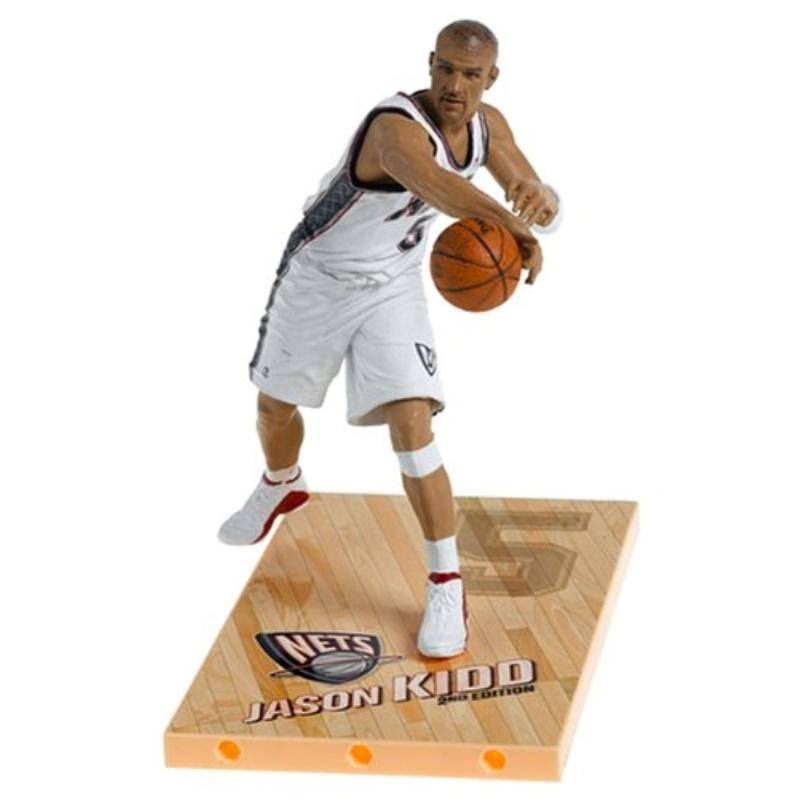 McFarlane NBA Series 8 Figure Jason Kidd with White Nets Jersey