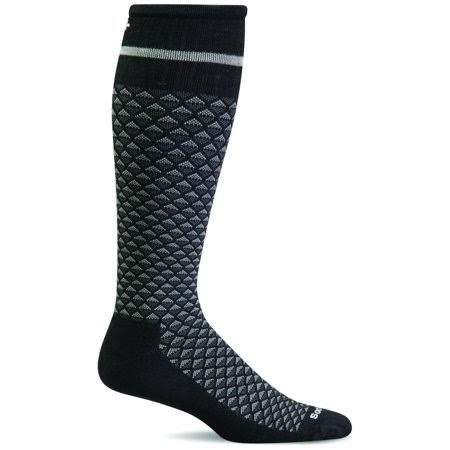 Sockwell Men's Micro Mix Firm Compression Socks L/XL / Black