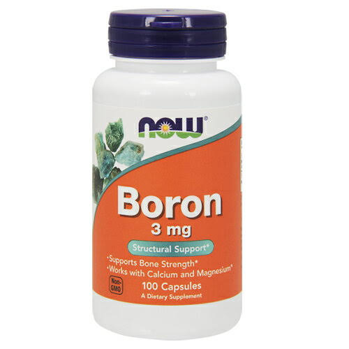 Now Foods Boron - 3mg, 100 Capsules