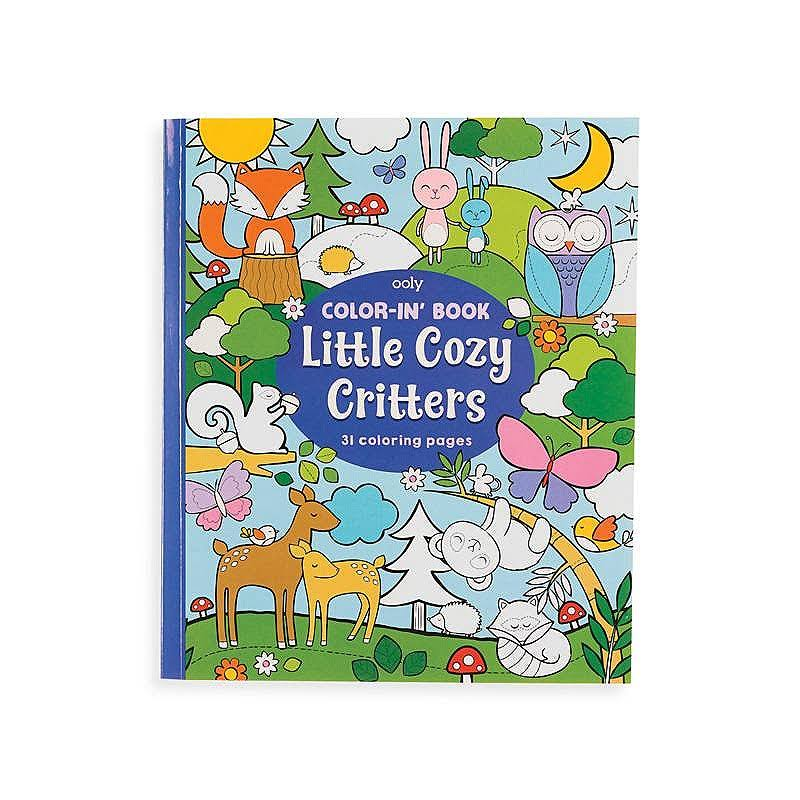 OOLY, Color-In' Book: Little Cozy Critters