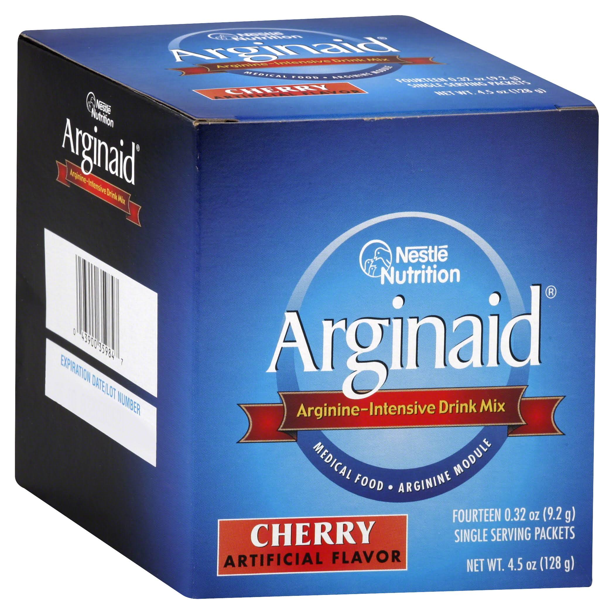 Arginaid Drink Mix, Arginine-Intensive, Cherry - 14 pack, 0.32 oz packets