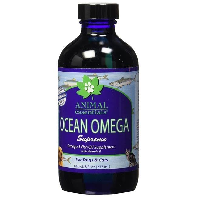 Animal Essentials Ocean Omega Supreme Fish Oil Supplement for Dogs & Cats - 8oz