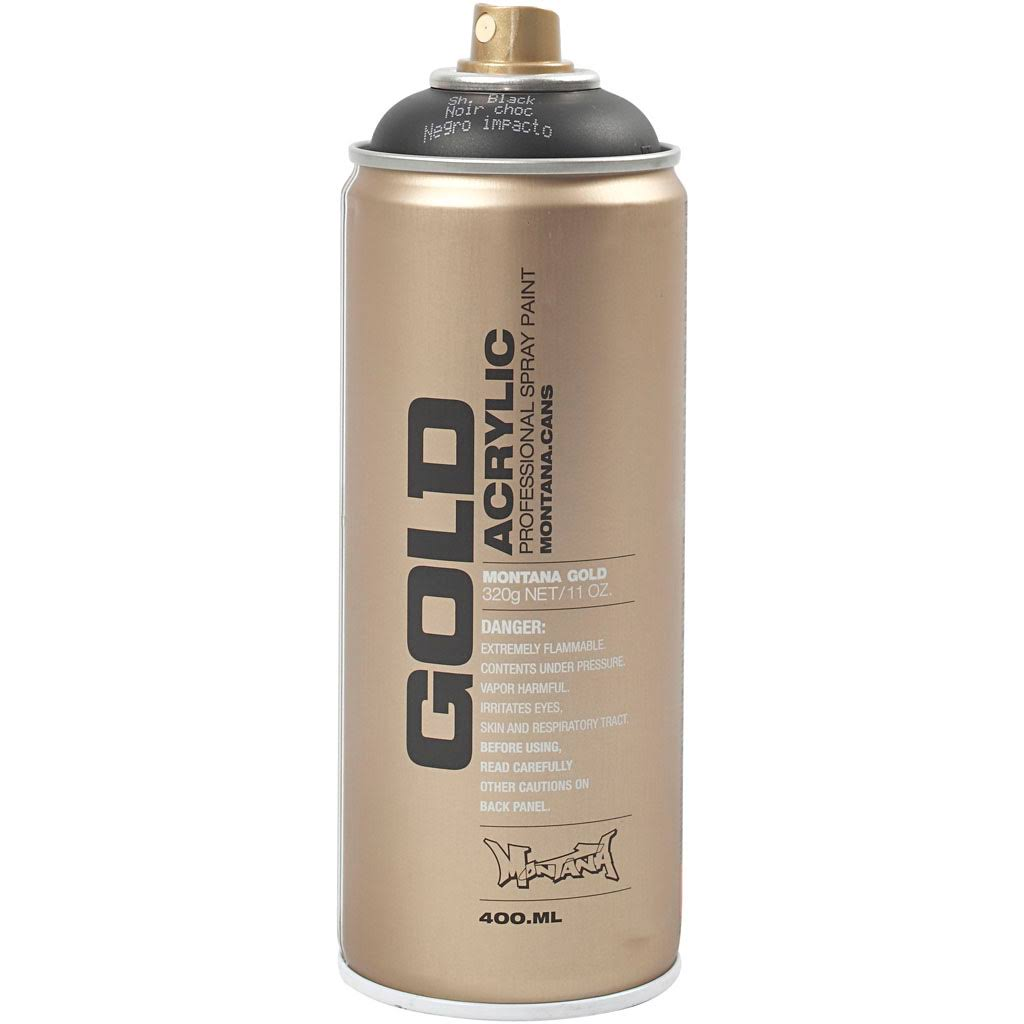 Montana Gold Acrylic Spray Paint - Shock Black