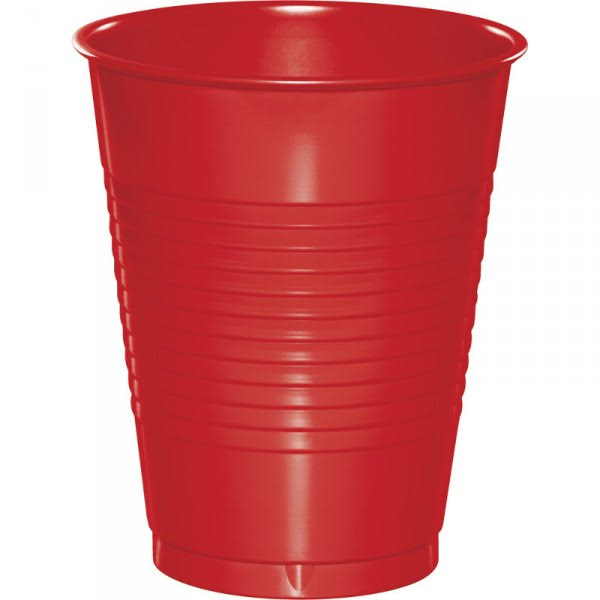 Creative Converting Plastic Cups - 20ct, Classic Red, 16oz