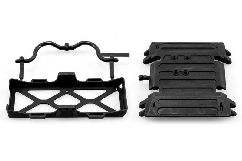 Axial AX80079 Wraith Tube Frame Skid Plate/Battery Tray Set