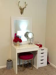 Small Corner Computer Desk Target by Makeup Vanity Ikea Micke Desk Target Threshold Pink Ottoman