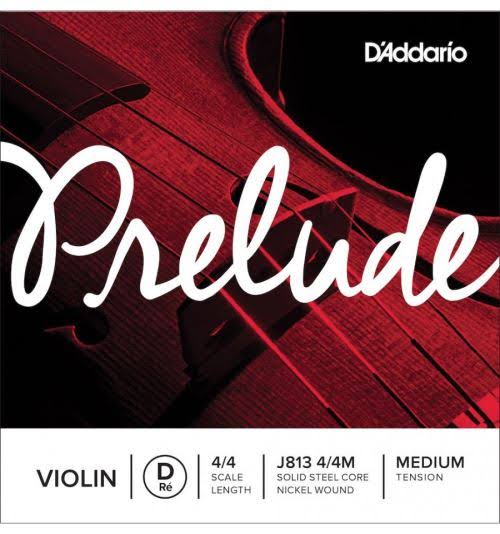 D'Addario Prelude Violin String - Medium, 4/4 D