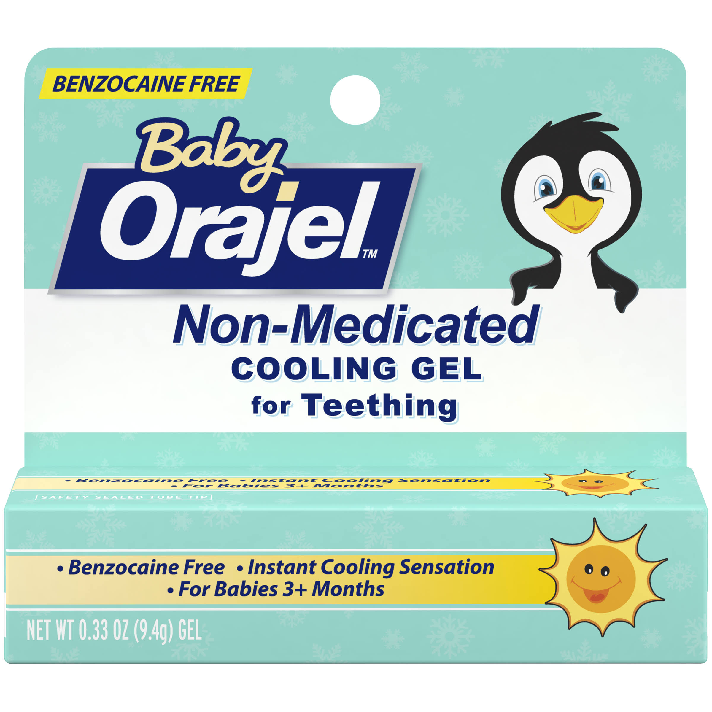 Baby Orajel Non-Medicated Cooling Gel for Teething - 0.33 oz