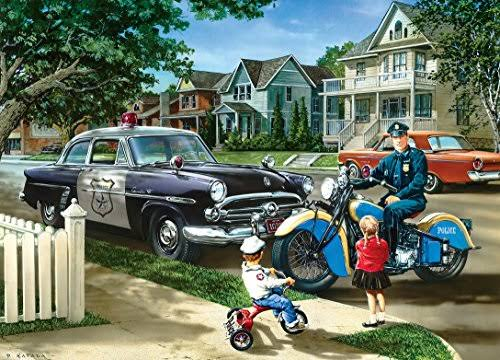 Masterpieces Jigsaw Puzzle - Hometown Heroes Neighborhood Patrol, 1000 Piece