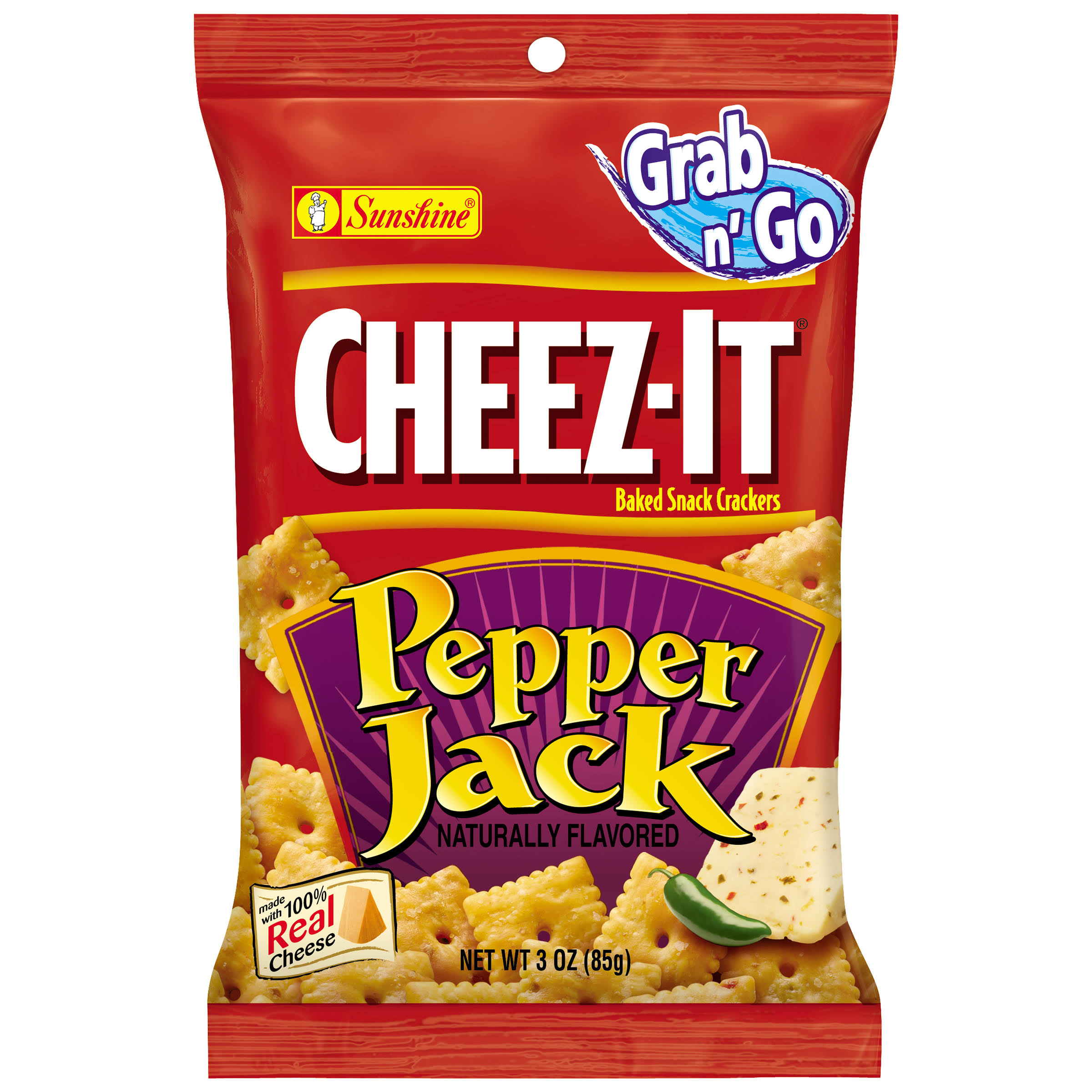 Cheez-It Grab n' Go Pepper Jack Baked Snack Crackers