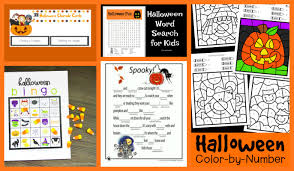 Haunted Halloween Crossword by Crayon Freckles 25 Free Halloween Printables For Kids