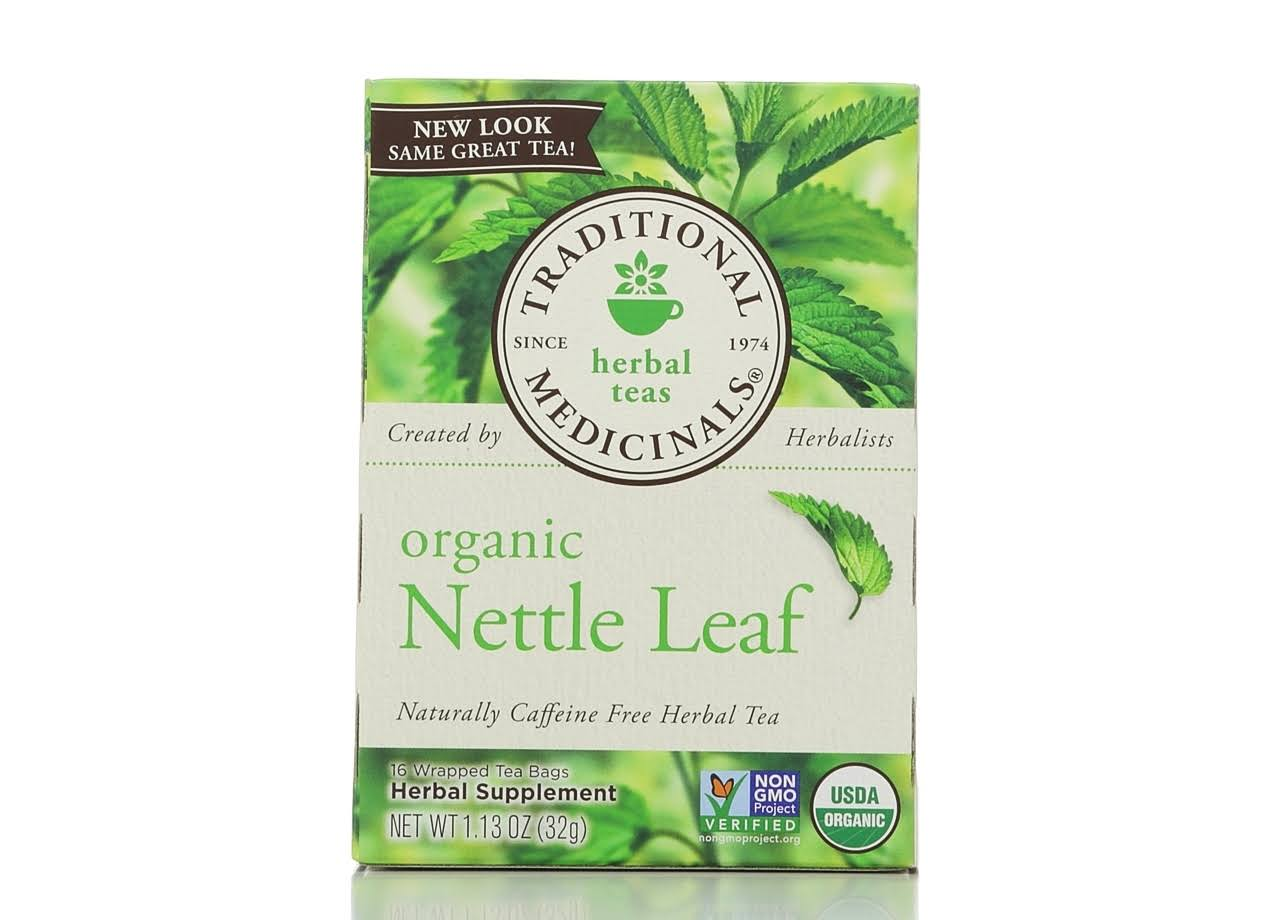 Traditional Medicinals Organic Nettle Leaf Herbal Tea - 16 Tea Bags