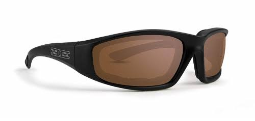 Epoch Foam Padded Motorcycle Sunglasses - Black, Amber Lenses