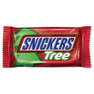 Snicker Christmas Tree Chocolate - 1.1oz, 24pk