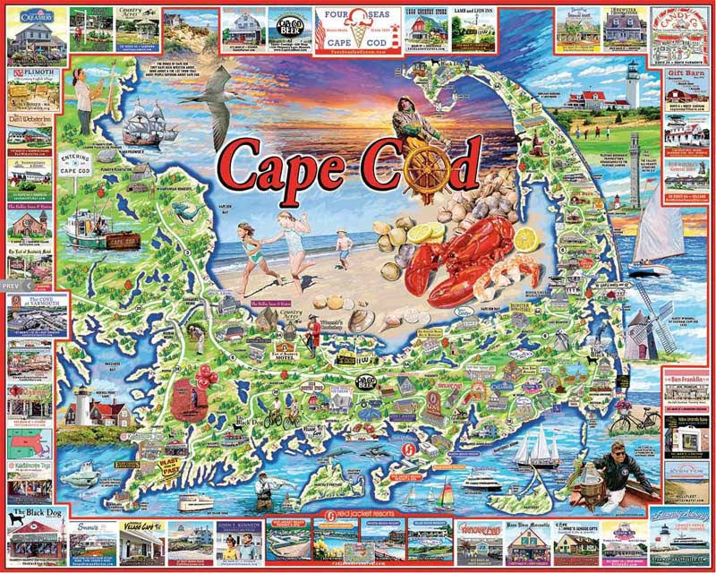 Cape Cod White Mountain Jigsaw Puzzle - 1000pcs