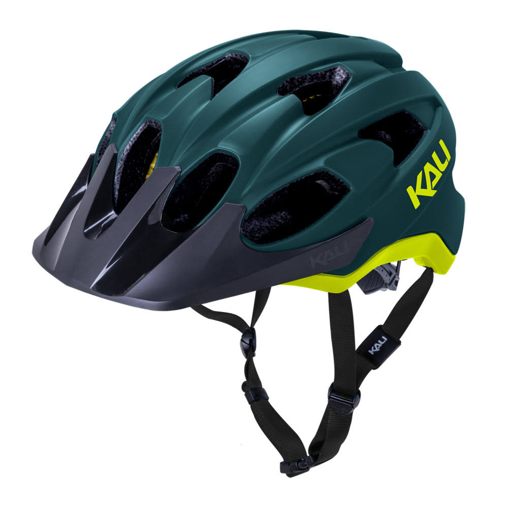 Kali Protectives Pace Helmet - Matte Teal/Yellow Small/Medium