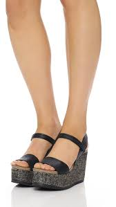 pedro garcia dorothy platform wedge sandals in black lyst