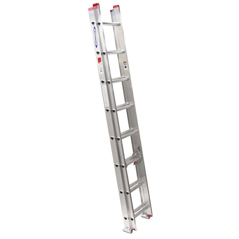Werner Aluminum Adjustable Multi Purpose Extension Ladder - 16'