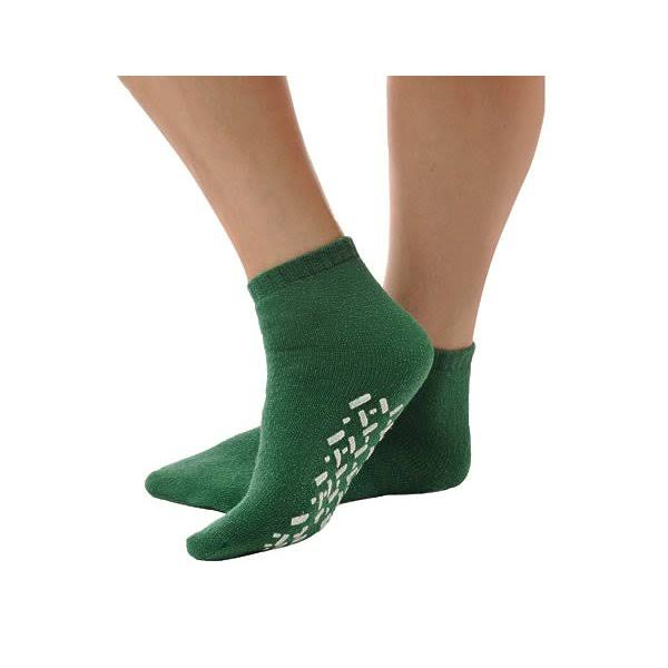 Alex Orthopedic Slip Resistant Booties, Green - Medium