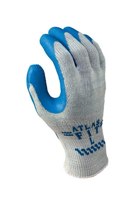 Showa Glove Gray with Blue Coating