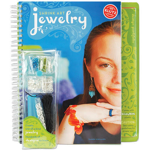 Klutz Shrink Art Jewelry Book Kit