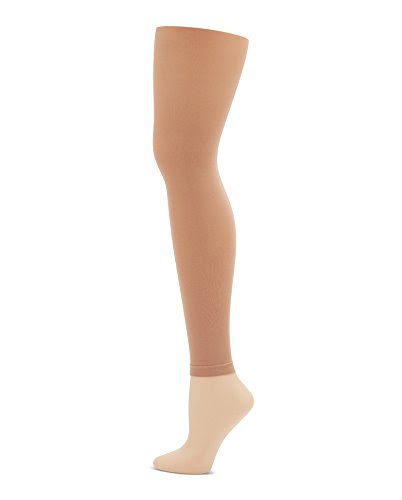 Capezio Women's Footless Tights - Beige, Small & Medium