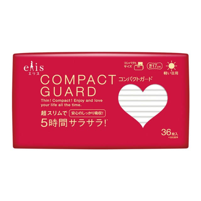 Joy Collection Japanese King Elis Compact Guard soft&ultra-thin Sanitary Napkins Pad Imported from Japan 17cm36 Dry Cotton Mesh Breathable
