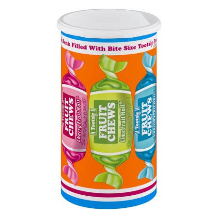 Tootsie Fruit Roll Bank - Assorted, 4oz