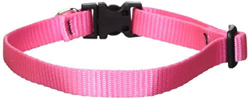 "LupinePet Basics 1/2"" Pink Adjustable Dog Collar for Small Dogs"