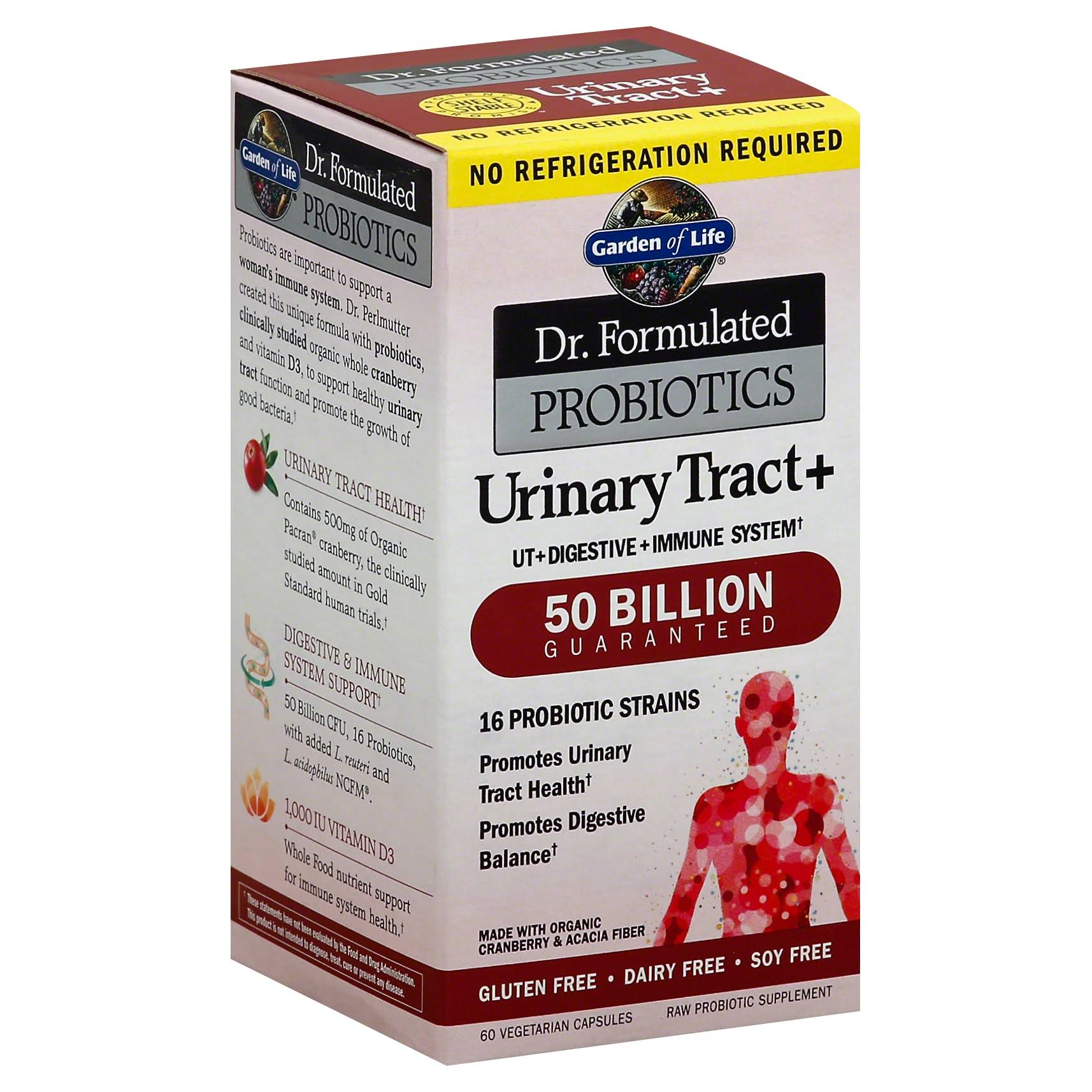 Garden of Life Dr. Formulated Probiotics Urinary Tract Plus Supplement - 60ct