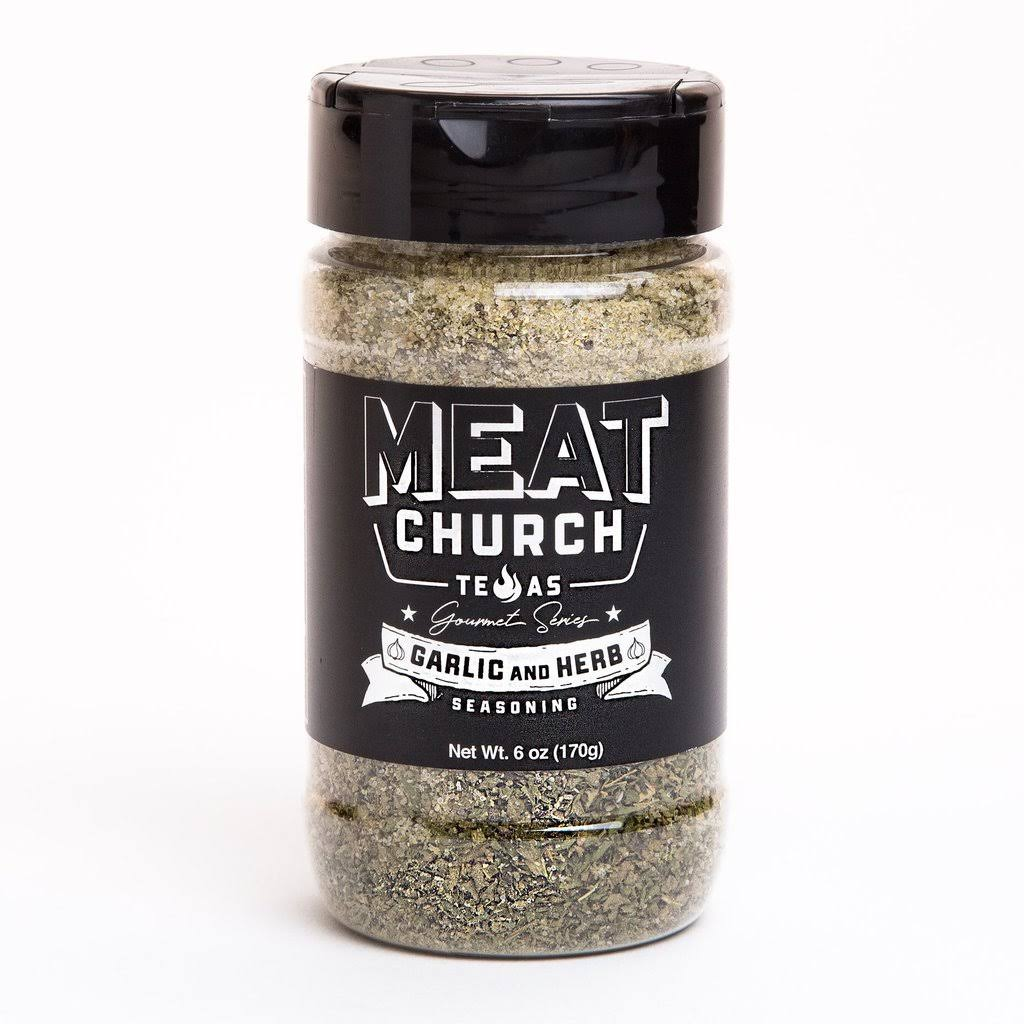 Meat Church Gourmet Series Seasoning - Garlic and Herb, 6oz