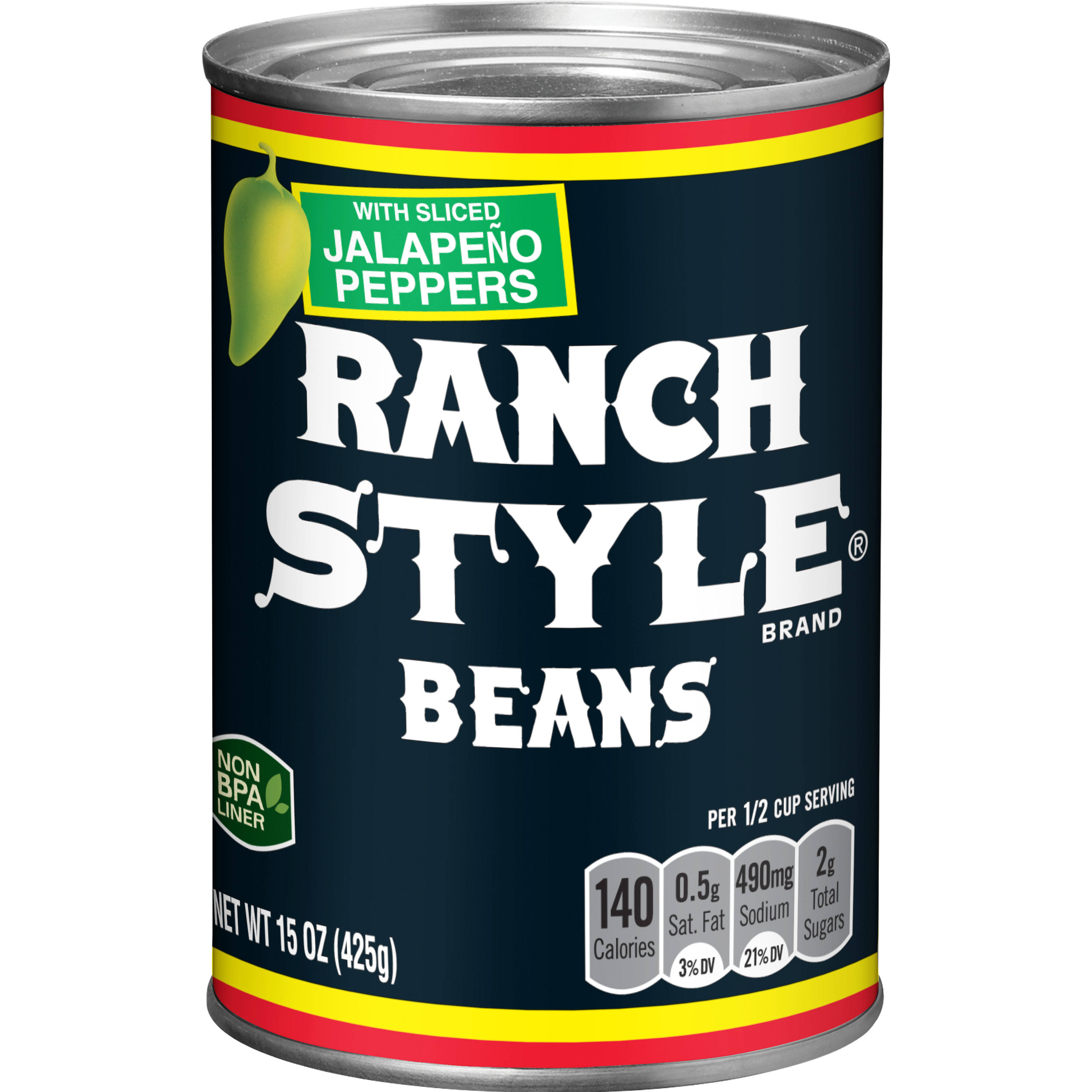 Ranch Style Beans - with Sliced Jalapeno Peppers, 15oz