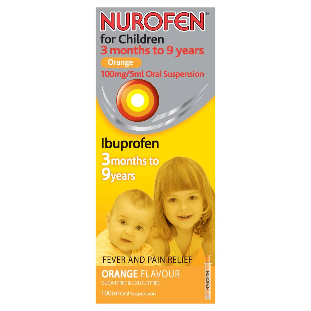 Nurofen Ibuprofen for Children - 3 Months to 9 Years, Orange