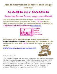 Halloween Haunt Kings Dominion September 26 by Beaverdam Bobcats Game 4 Cause U2013 Virginia Breast Cancer Foundation