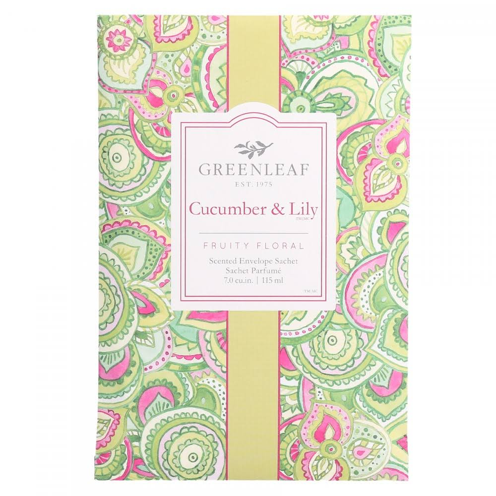 Greenleaf Gifts Cucumber & Lily Large Sachet