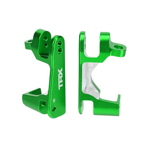 Traxxas Caster Blocks (C-Hubs) 6061-T6 Aluminum (green-anodized) Left & Right TRA6832G