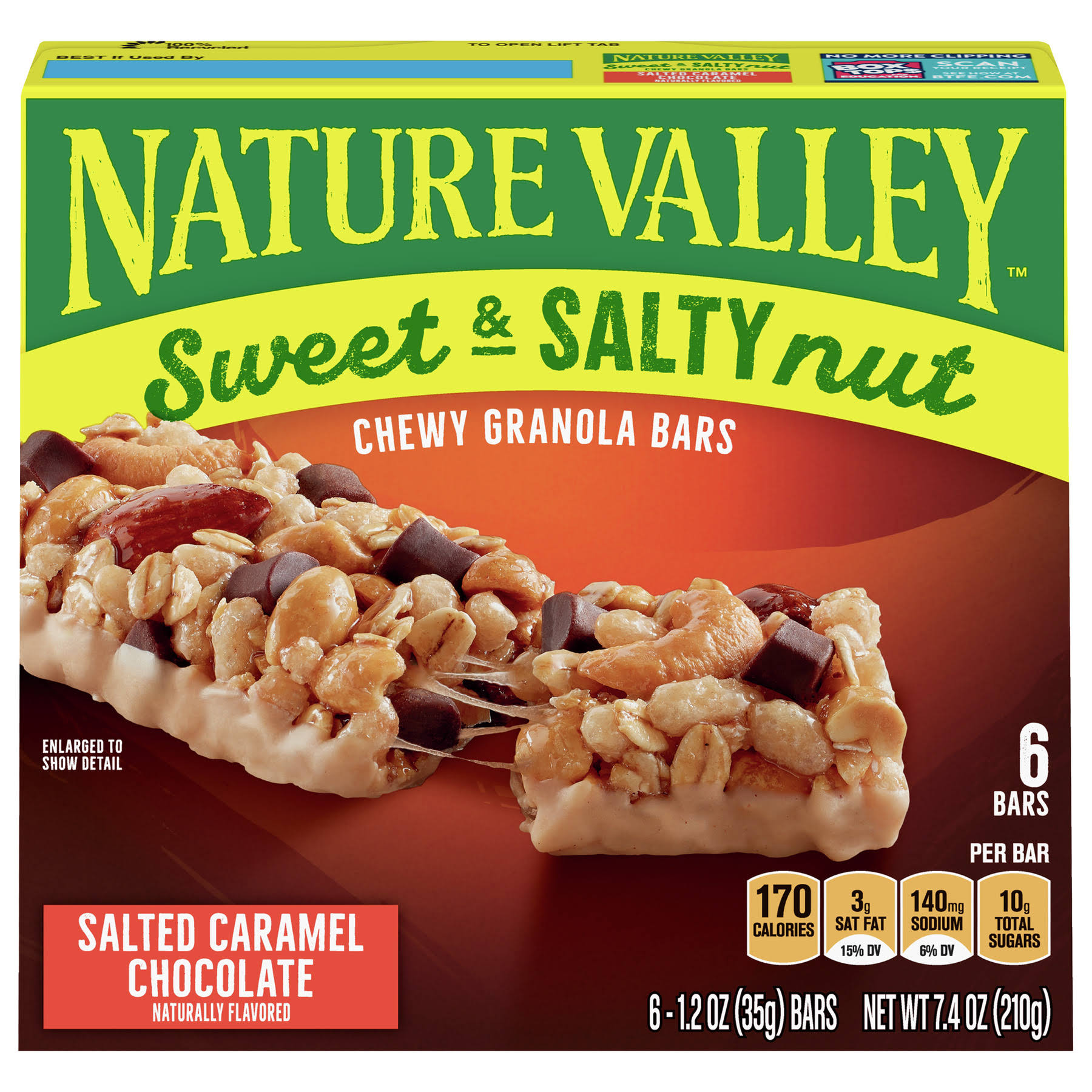 Nature Valley Granola Bars, Sweet & Salty Nut - 6 pack, 1.24 oz bars