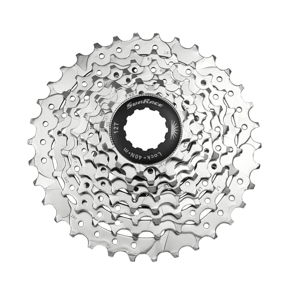 SunRace CSM66 Bicycle Cassette - Silver, 8 Speed, 11-32T