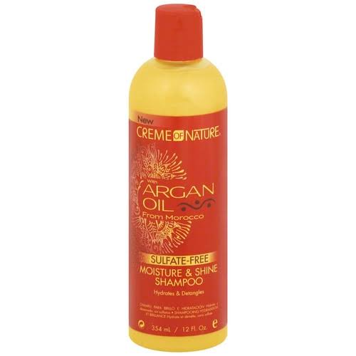 Creme Of Nature Moisture and Shine Shampoo - with Argan Oil, 12oz