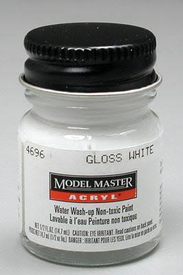 Testors Model Master Acryl Paint - Gloss White