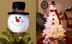 Christmas Tree Amazon Prime by Amazon Com Frosty Snowman Top Hat Christmas Tree Topper Decor