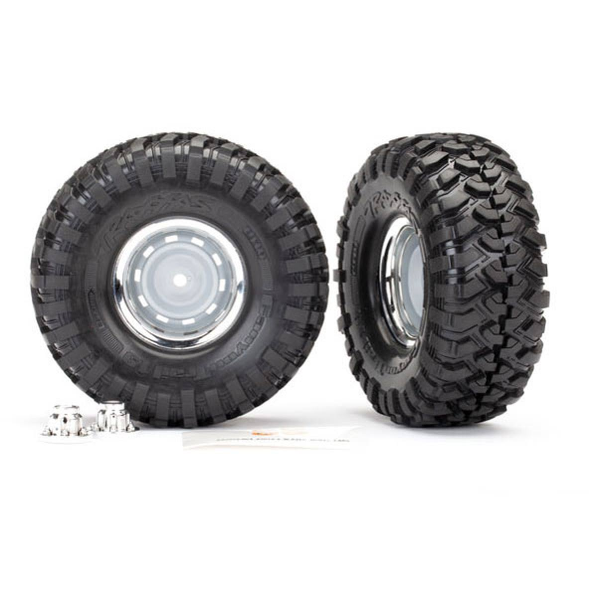 Traxxas 8166 - Canyon Trail Tires, Chrome 1.9 Wheels, Assembled, Glued (2)