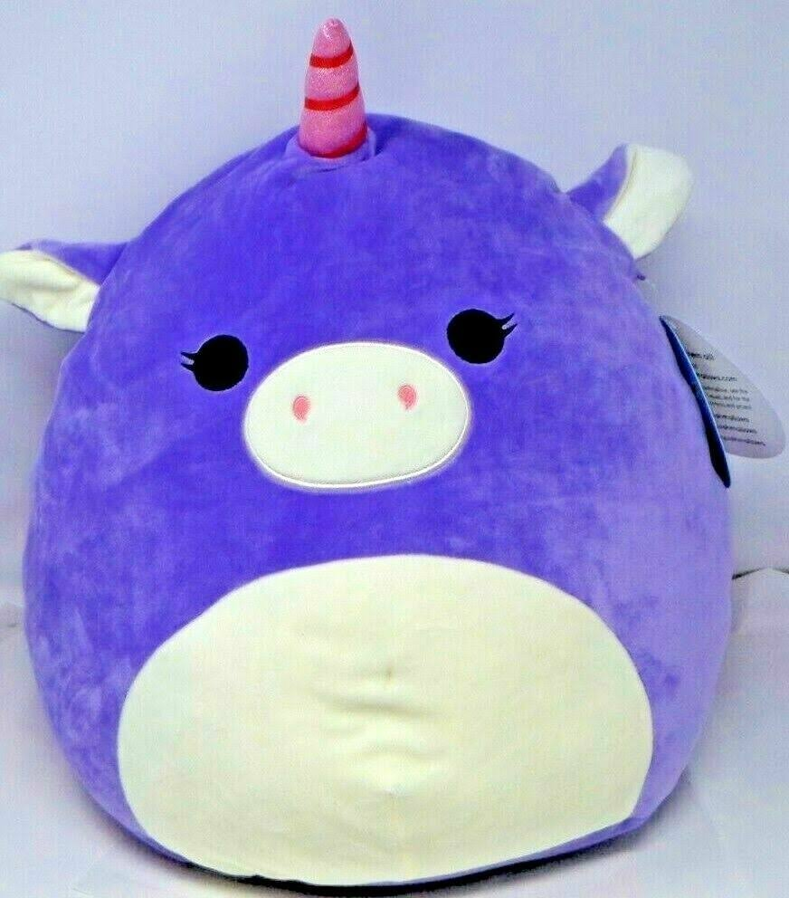 "New w/Tags Squishmallow Kellytoy 16"" Astrid The Purple Unicorn"