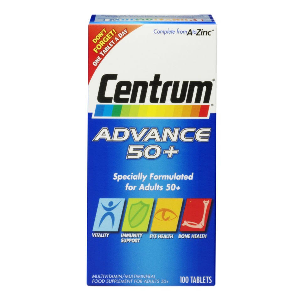 Centrum Advance 50 Plus Multivitamin Supplement - 100 Tablets