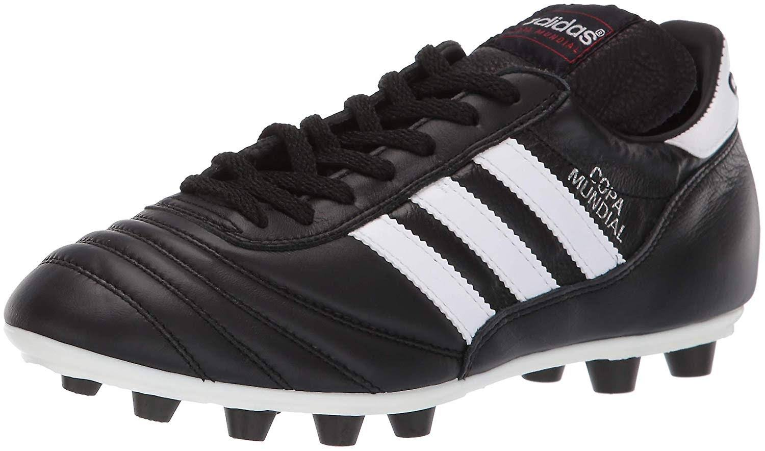 Adidas Men's Copa Mundial Leather Soccer Cleats - Black & White, 9.5 US